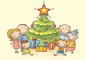 Coloriages Noël en famille