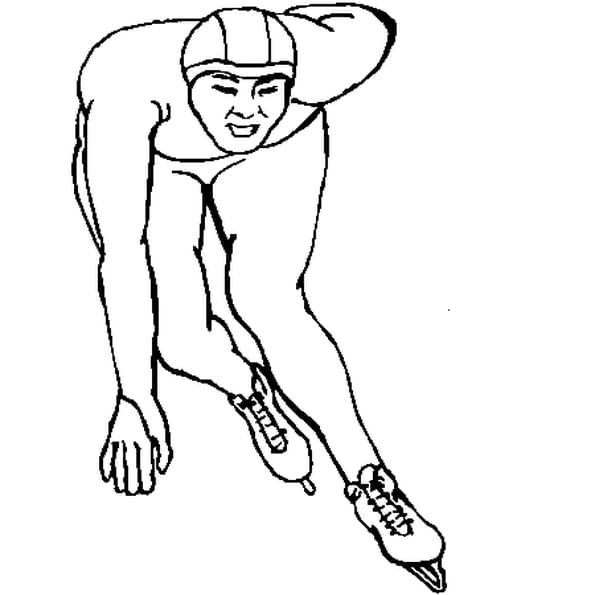 Coloriage patinage vitesse en Ligne Gratuit à imprimer