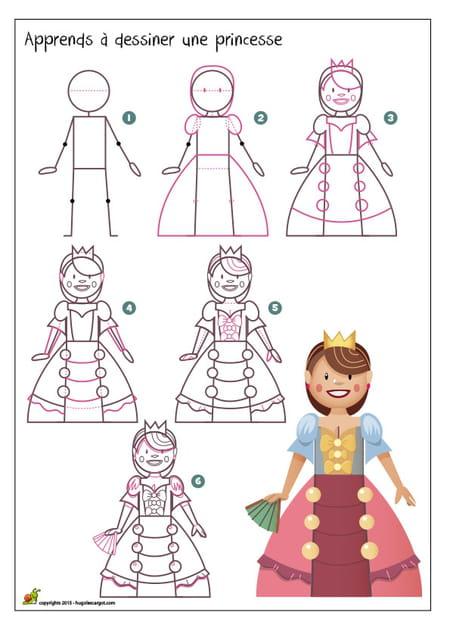 Dessiner une princesse - Comment dessiner princesse ...