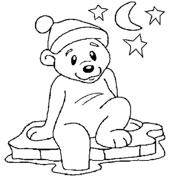 Coloriage ours de no l en ligne gratuit imprimer - Dessin d un ours ...