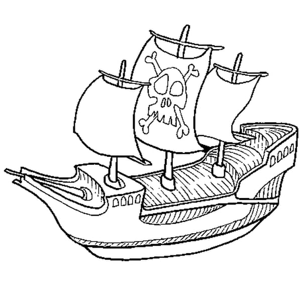 Coloriage bateau de pirate en ligne gratuit imprimer - Dessin petit bateau ...