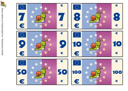 Mes billets de banque - Jeux hugo l escargot 2 ...