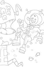 Coloriage extraterrestre et astronaute