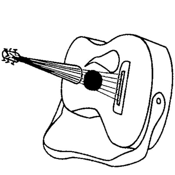 Coloriage guitare en Ligne Gratuit à imprimer