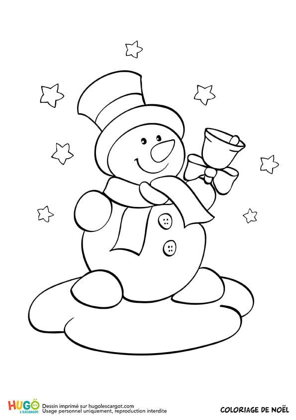 Bonhomme de neige et clochette