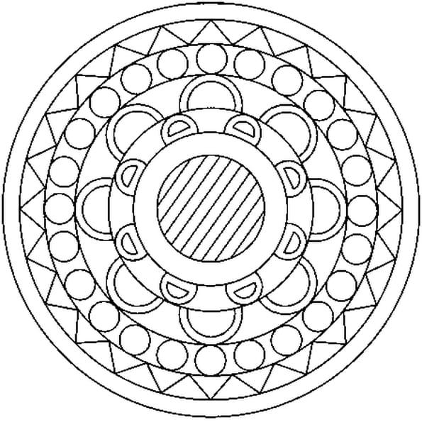Mandala coloriage mandala en ligne gratuit a imprimer - Imprimer coloriage mandala ...
