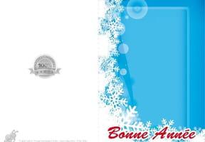 Carte flocons de neige