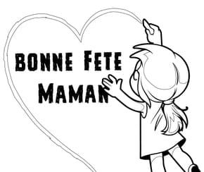 Coeur Bonne fête maman