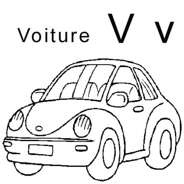 Lettre v comme voiture coloriage lettre v comme voiture en ligne gratuit a imprimer sur - Coloriage voiture enfant ...