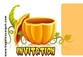 Carte invitation Halloween jolie citrouille