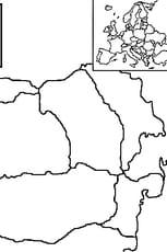 Coloriage carte Roumanie en Ligne Gratuit à imprimer