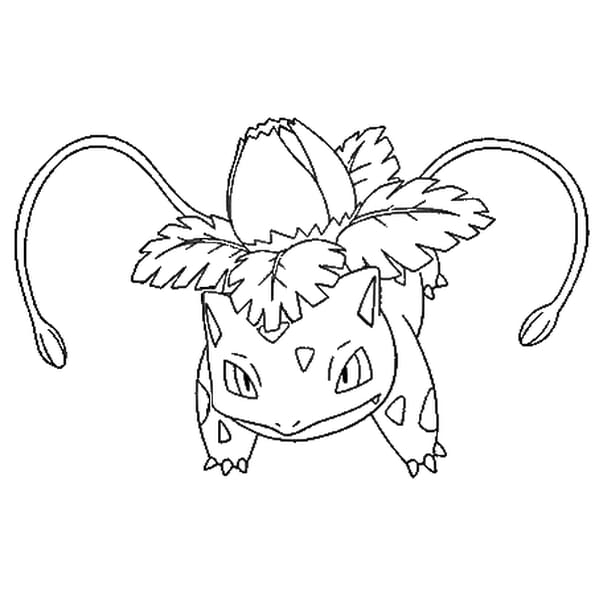 Coloriage Pokémon Herbizarre En Ligne Gratuit à Imprimer