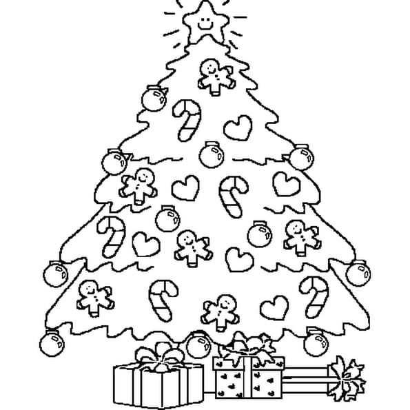 Dessin Arbre de Noël a colorier