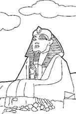 Coloriage Sphinx Egypte en Ligne Gratuit à imprimer
