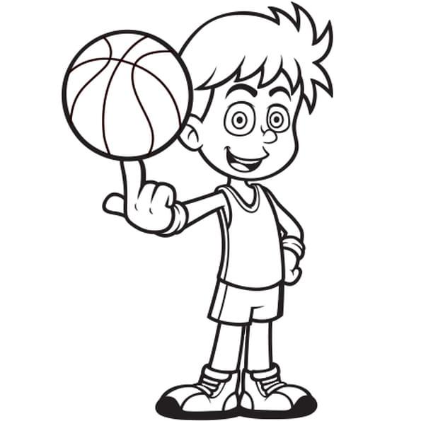 Joueur de basket ball coloriage joueur de basket ball en ligne gratuit a imprimer sur coloriage tv - Dessin basket ...