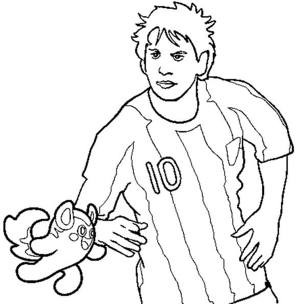 Coloriage Messi en Ligne Gratuit à imprimer