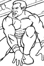 Coloriage catcheur WWE