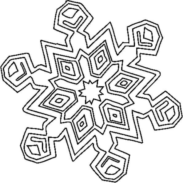 Dessin Cristaux de Neige a colorier
