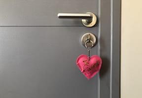 Porte-clés cœur fête des Mères