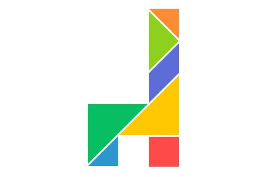 Le tangram niveau facile, une chaise vue de côté