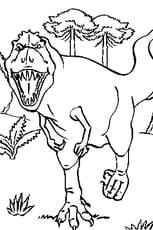 Coloriage Course du dinosaure en Ligne Gratuit à imprimer