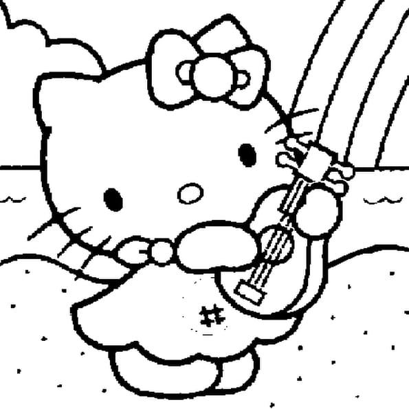 Coloriage Kitty en Ligne Gratuit à imprimer