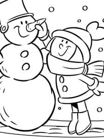 Coloriage bonshommes de neige sur - Bonhomme de neige a imprimer gratuit ...