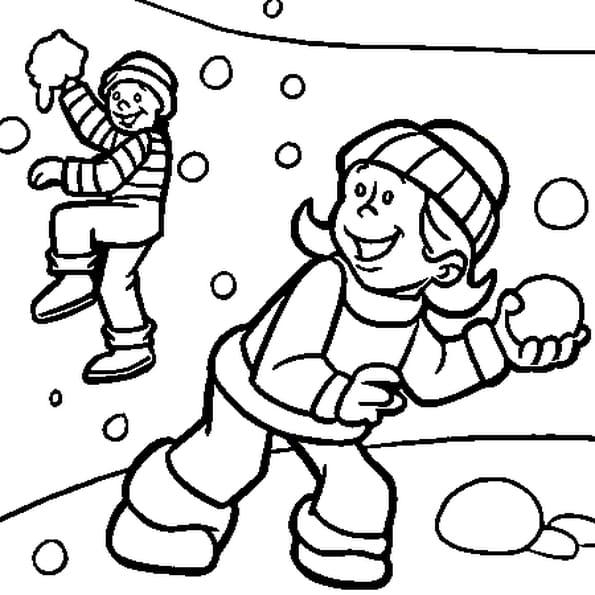 Coloriage boules de neige en ligne gratuit imprimer - Dessin sur l hiver ...