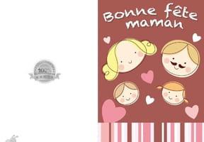 Carte fête des mères famille unie