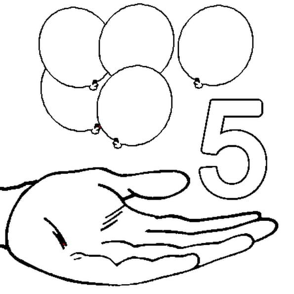 Coloriage 5 en Ligne Gratuit à imprimer