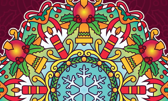 Coloriage Mandalas Noël du Monde