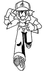 Coloriage Sacha Pokémon en Ligne Gratuit à imprimer