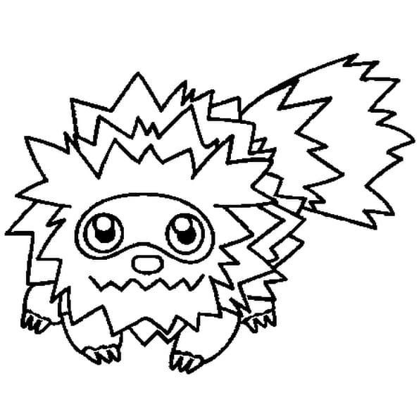 Dessin Pokémon zigzaton a colorier