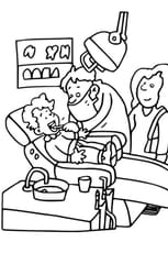 Coloriage Dentiste