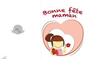 Carte fête des mères petite fille