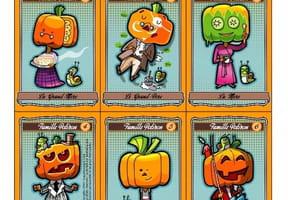 Le jeu des 7familles d'Halloween