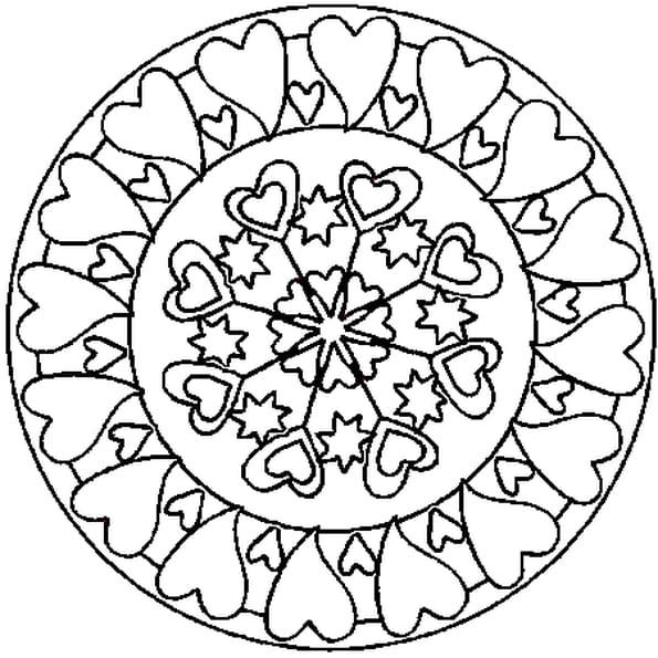 Mandala coeur coloriage mandala coeur en ligne gratuit a - Coloriage mandala enfants ...