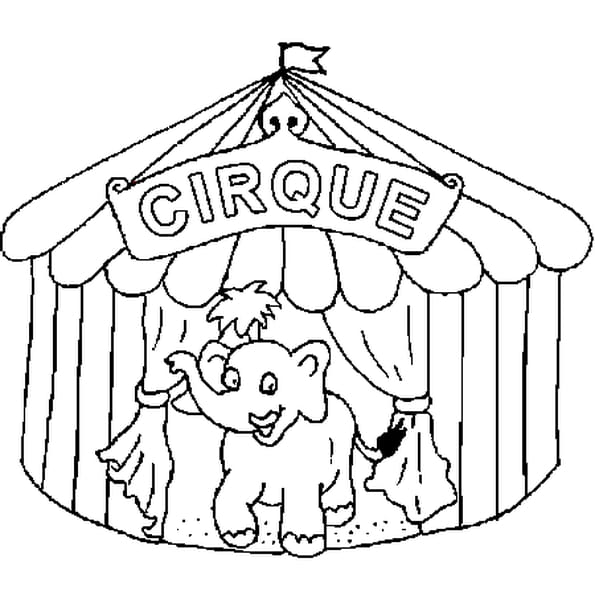 Dessin Du Cirque a colorier