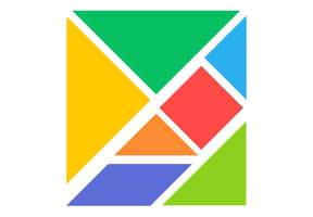 Le tangram, les pièces à découper