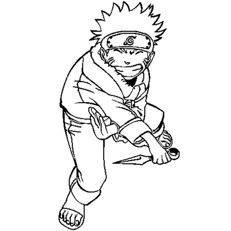 Coloriage Naruto Uzumaki En Ligne Gratuit A Imprimer