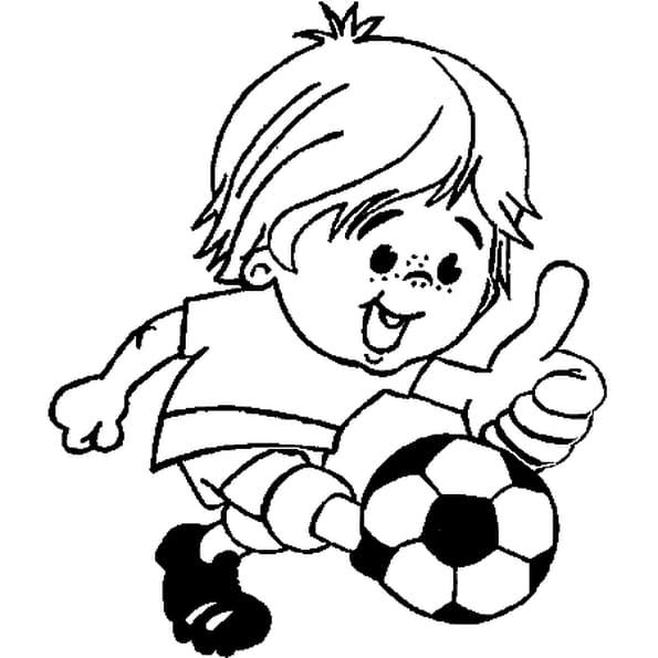 Coloriage Football En Ligne Gratuit A Imprimer