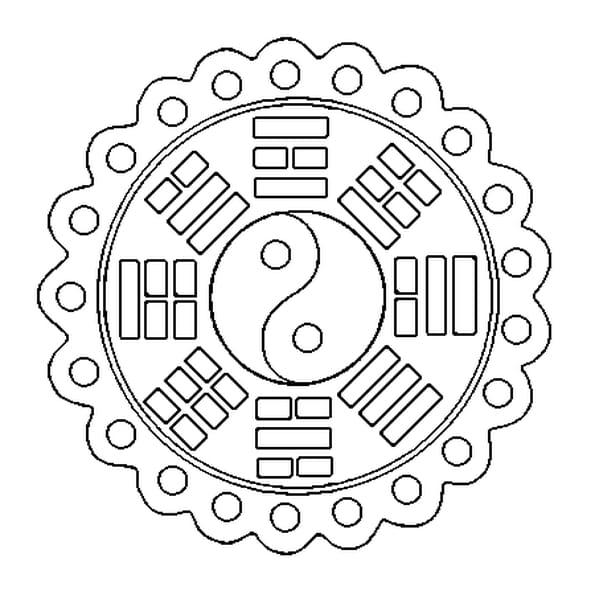 Coloriage Mandala chinois en Ligne Gratuit à imprimer
