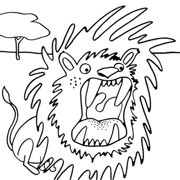 Dessin Dessin Lion a colorier