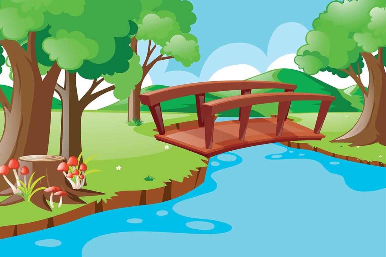 Fabriquer Un Petit Pont De Bois sur le pont du nord, chansons pour enfants sur hugolescargot