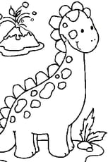 Coloriage bébé dinosaure