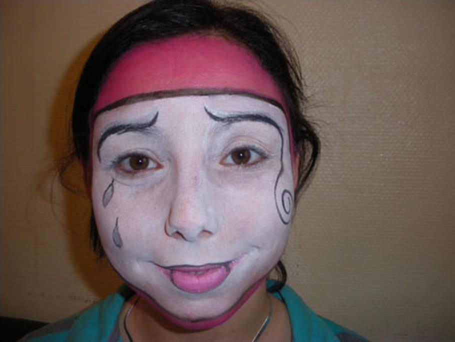Maquillage Pierrot la Lune