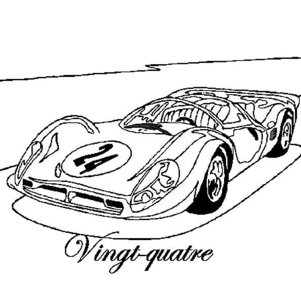 Dessin 24 heures du Mans a colorier