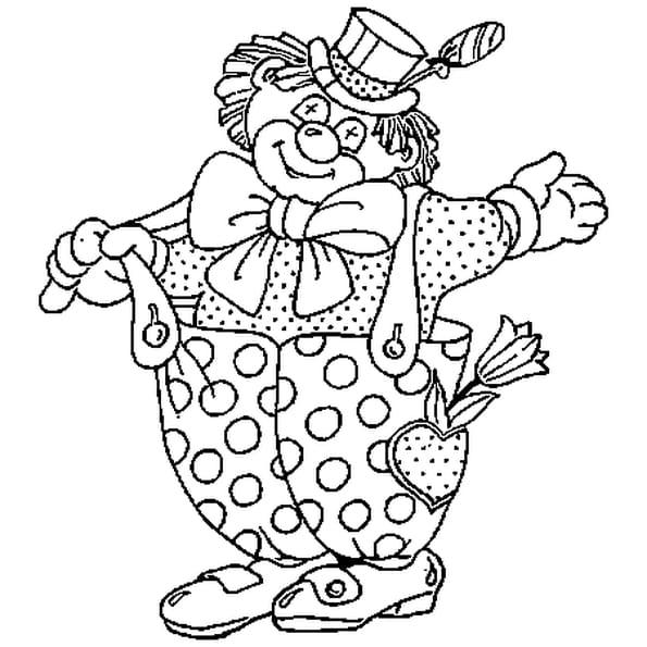 Coloriage Clown Cirque en Ligne Gratuit à imprimer