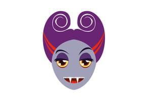 Masque de madame Vampire pour Halloween