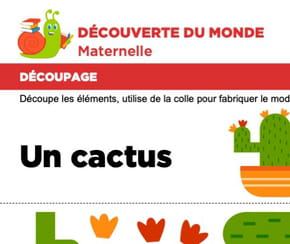 Découpage et collage d'un cactus